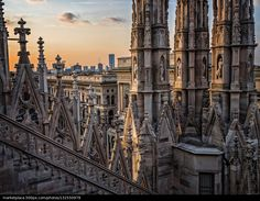 Up On The Roof in Milan - Lombardy, Italy © Linda James | 500px.com | #Milano #Lombardia #Italia #Mailand #Lombardei #Italien