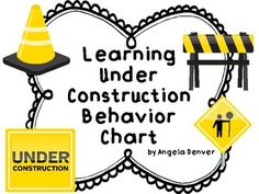 Learning Under Construction Behavior Chart Construction Theme Classroom, Under Construction Theme, Classroom Themes, Behavior Clip Charts, Behaviour Chart, Behavior Management, Classroom Management, Guided Reading, Close Reading