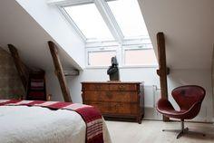 Arne Jacobsen Chair with an Antique Dresser