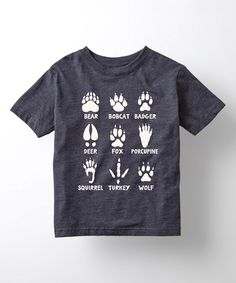 Another great find on #zulily! Heather Blue Animal Tracks Tee - Toddler & Kids by Country Casuals #zulilyfinds