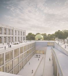 Extension Contest of the MALI Museum (Honorable Mention A . Museum Architecture, Architecture Visualization, Islamic Architecture, Concept Architecture, School Architecture, Beautiful Architecture, Landscape Architecture, Landscape Design, Architecture Design