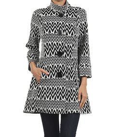 Love this White & Black Zigzag Jacket by Come N See on #zulily! #zulilyfinds
