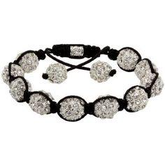 DIY Shamballa bracelet (plus source for pave beads) cierre crochet Diamond Bracelets, Gemstone Bracelets, Bracelets For Men, Shamballa Bracelet, Strand Bracelet, Swarovski Bracelet, Swarovski Crystals, Royal Diamond, Charm Jewelry