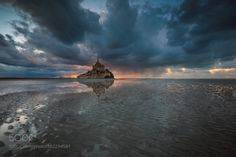 Mont Saint-Michel by florentcriquet  light france canon bay normandy english channel normandie mont saint michel lee filters baie Mont Sa