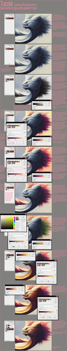 http://fc02.deviantart.net/fs70/f/2013/039/9/e/tutorial__adding_color_with_gradient_maps_by_shinerai-d5u9evy.jpg ✤ || CHARACTER DESIGN REFERENCES | キャラクターデザイン | çizgi film • Find more at https://www.facebook.com/CharacterDesignReferences & http://www.pinterest.com/characterdesigh if you're looking for: #color #theory #contrast #animation #how #to #draw #paint #drawing #tutorial #lesson #balance #sketch #colors #digital #painting #process #line #art #tips || ✤