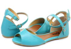 Sandálky #Kitten, krásna trendy tyrkysová farba :-)