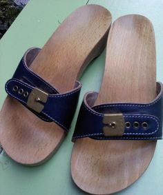 1970's Dr. Scholl's Exercise Sandals. The leather version were okay but these wooden ones actually hurt.  These look just like the Pair I had...