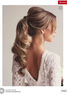 Excellent Pics Bridesmaid Hair ponytail Popular Attendant styles can be complicated when your entire females can have different processed facial lo # formal Hairstyles Bridesmaid Hair Ponytail, Bridesmaid Hair Half Up, Prom Hair Updo, Bridesmaids, Ponytail Wedding Hair, Side Ponytail Hairstyles, Formal Hairstyles, Bride Hairstyles, Hairstyle Ideas