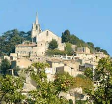 The enchanting village of Bonnieux in the Luberon Mountains of Provence.
