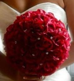 A red rose bouquet with little dimonds in it