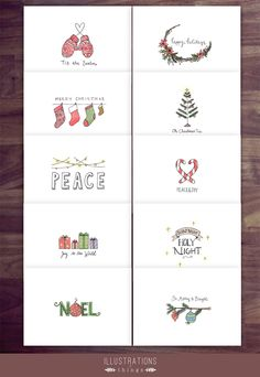 5.5in x 4in - These handmade Christmas cards come in an assortment of 10 and is perfect to give to your loved ones.