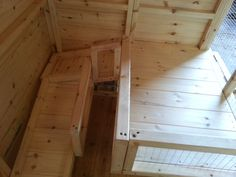 Inside of a Rabbit Shed with a shelf by window and ramps to get to it. Bunny Sheds, Rabbit Shed, Bunny Rabbit, Window Shelves, Shelf, Rabbit Enclosure, Rabbit Crafts, Future Farms, Rabbit Hutches