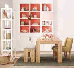 painted bookshelves....i'd like lighter