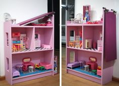 The Convertible BILLY Princess Row House. A perfect hack idea for your daughter's room. See more details