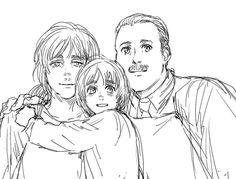 Armin's parents :'( // NO SE porque tenía  la sospecha que Armin se parecía a su mamá :( creds: tirutiru13
