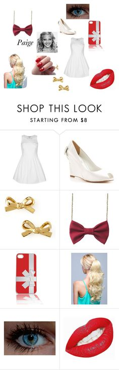 """""""Paige's Christmas Outfit Chapter 10"""" by lyric-denali ❤ liked on Polyvore featuring Rare London, David Tutera, Kate Spade, women's clothing, women, female, woman, misses and juniors"""