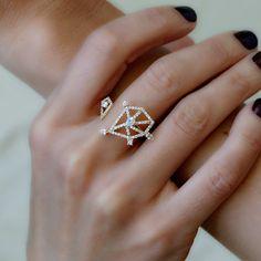 "Tana Chung ""Constellation"" Open Diamond Ring"