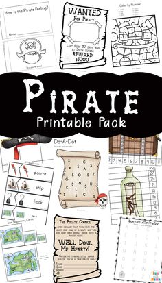 Pirate Coloring Pages + Pirate Activities pirate printables, pirate worksheets, pirate party ideas Pirate Games For Kids, Preschool Pirate Theme, Pirate Activities, Activities For Kids, Learning Activities, Pirates For Kids, Pirate Party Games, Kids Printable Activities, Leadership Activities