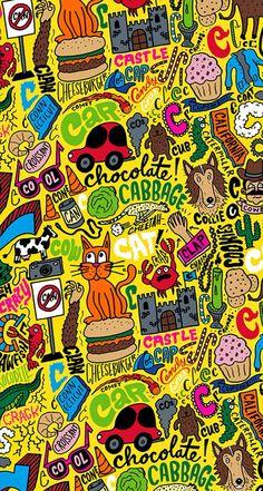 Random illustration #cat #food #sign - mobile9.com