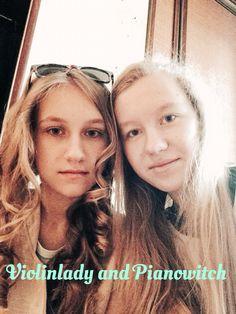#Pianowitch and #Violinlady  #sisters ... La paciencia tiene más poder que la fuerza. У терпения больше власти, чем у силы.