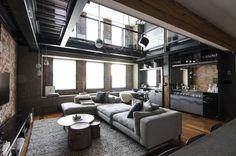 Warehouse loft, loft design, interior design studio, modern house design, c