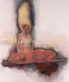 attila szucs, evocation, oil on canvas, 175x145cm. 2013