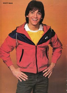 SCOTT BAIO PINUP CLIPPING 80's Cute In Tight Pants