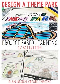 Students design their own theme park in this project based learning activity. From creating the rides and budgeting park essentials, students take full control of their parks. These PBL activities can be completed as a whole class, independently, or are excellent for early finishers. This comes with 17 activities that cover math skills, writing, design, art, map skills, problem solving, and more.