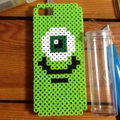 Mike Monsters Inc. phone cover perler beads by m_m0917
