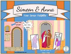 simeon & Anna See Baby Jesus Foldable @ www.biblefunforkids.com