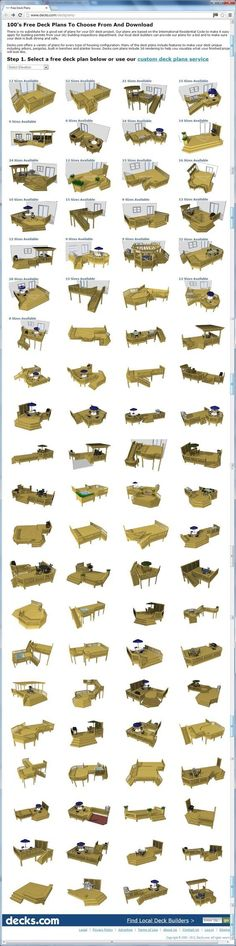 awesome web resource! 100's of free deck plans you can choose from and download at http://www.decks.com/deckplans/, or use their custom deck plans services