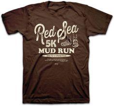 aaa842a3fbb9 Red Sea Mud Run Moses Exodus 14 21 Christian Church Kerusso Men 039 s T  Shirt