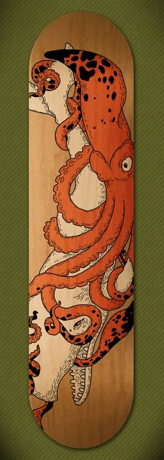 Skateboard designs by Vaclav Bicha ( maybe could use as inspiration for snowboard design? Skateboard Deck Art, Skateboard Design, Skateboard Pictures, Surfboard Art, Deck Design, Design Art, Le Kraken, Snowboard Design, Motif Art Deco