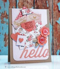 Hello letters! by stampcatwg - Cards and Paper Crafts at Splitcoaststampers