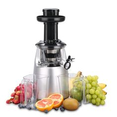 OBreko Slow Masticating Juicer with 65 RPM DC Motor and Reverse Function Spraying Silver Best Masticating Juicer, Juicer Reviews, Juicer Machine, Specialty Appliances, Small Appliances, Kitchen Appliances, Best Juicer, Juice Extractor, Eating Raw