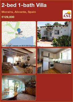 2-bed 1-bath Villa in Moraira, Alicante, Spain ►€129,000 #PropertyForSaleInSpain