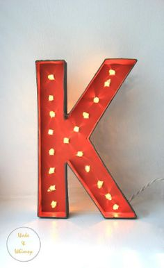 DIY marquee letters. Tutorial from Wake & Whimsy. Also with link to 2 other marquee letter DIY's.