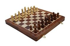 StarZebra Chess Set – Wooden Magnetic Travel Chess Set with Staunton Pieces and Folding Game Board…