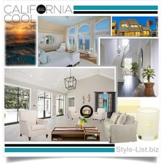 """California Cool Interior by http://style-list.biz"" by lanaterra on Polyvore"