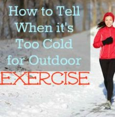 Is it too cold to exercise safely? FIND OUT! | via @SparkPeople #fitness #exercise #run