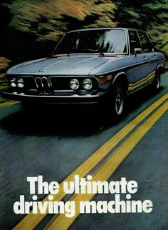 1975 BMW Blue Ultimate Driving Machine Car Auto Retro Vintage Original Ad $9.99 Free S!