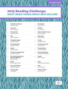 Take the YA Reading Challenge, and #challengeyourshelf!