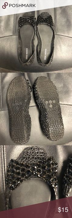 Steve Madden jelly flats. Size 8. If you grew up in the 90s you will love these Steve Madden jelly flats with adorable bow accents. Size 8. Gently worn. Steve Madden Shoes Flats & Loafers