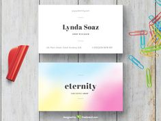 Simple Blurred Business Card - Freebcard