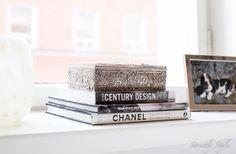 white decor style books