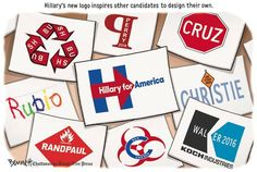 Political Cartoons of the Week: 2016 Campaign Logos