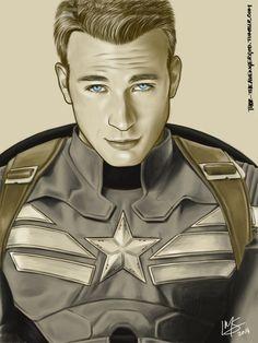 Fan art of Steve Rogers