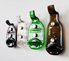 """""""99 bottles"""" coat hooks."""