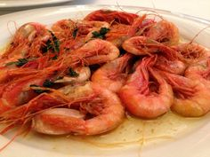 EL PASSADÍS DEL PEP Carabineros? How may kinds of shrimp and langostinos are there in Spain?I will be back! Is this the best seafood in Barcelona? Zagat thinks so gave them a 27 for food http://www.passadis.com/en/