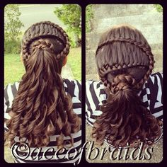 Double braid pony tail
